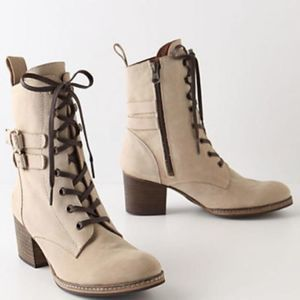 Holding Horses Lace-up Heeled Boots Tan